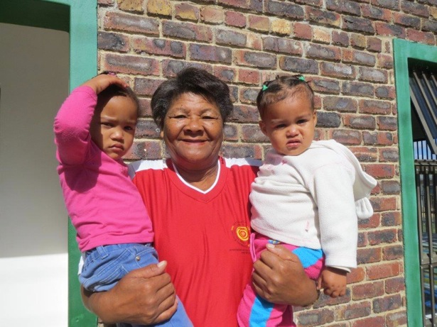 Aunty Rosie with Romilia Jacobs L and baby Nazilma Afrika R